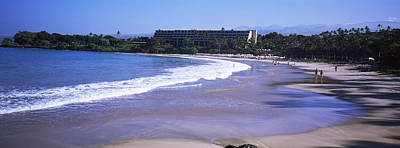 Surf On The Beach, Mauna Kea, Hawaii Poster