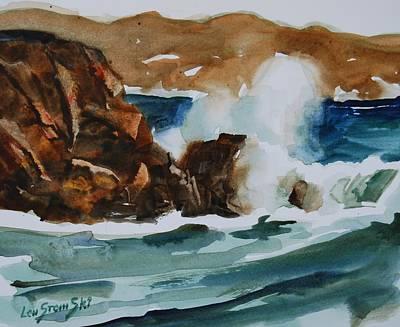 Surf Study Poster by Len Stomski