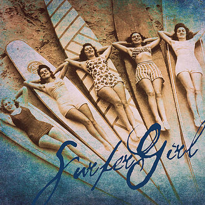 Surfer Girl Poster by Brandi Fitzgerald