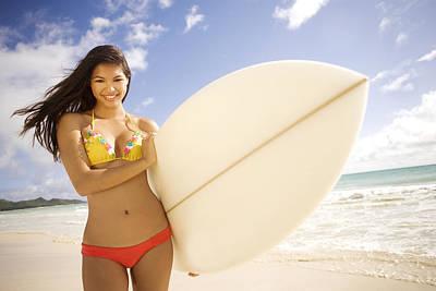 Surfer Girl Poster by Sri Maiava Rusden - Printscapes