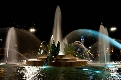 Swann Memorial Fountain Poster by Louis Dallara