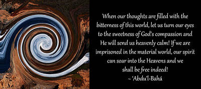 Sweetness Of God's Compassion Poster by Baha'i Writings As Art