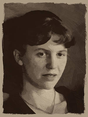 Sylvia Plath Poster by Afterdarkness
