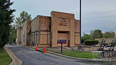 Taco Bell In Aspen Hill During Renovation Poster