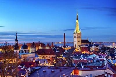 Poster featuring the photograph Tallinn by Fabrizio Troiani