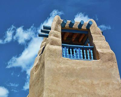 Taos Blue Poster