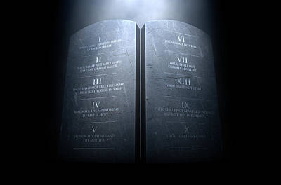 Ten Commandments Poster by Allan Swart