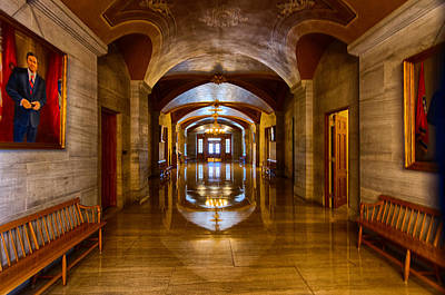 Tennessee Capital Hallway Poster by Mike Burgquist