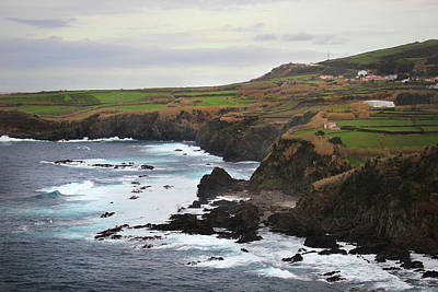 Poster featuring the photograph Terceira Coastline by Kelly Hazel