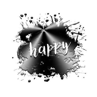 Text Art Happy Poster