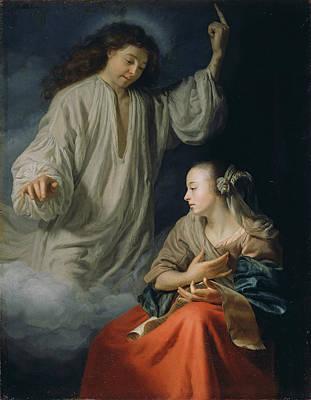 The Annunciation Poster by Godfried Schalcken