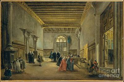 The Antechamber Of The Sala Del Maggior Consiglio  Poster by Celestial Images
