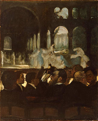 Poster featuring the painting The Ballet From Robert Le Diable by Edgar Degas
