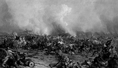 The Battle Of Gettysburg Poster by War Is Hell Store