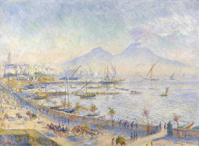 The Bay Of Naples Poster by Auguste Renoir