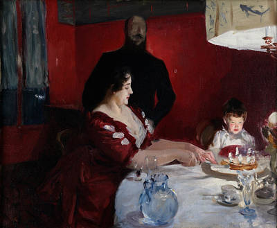 The Birthday Party Poster by John Singer Sargent