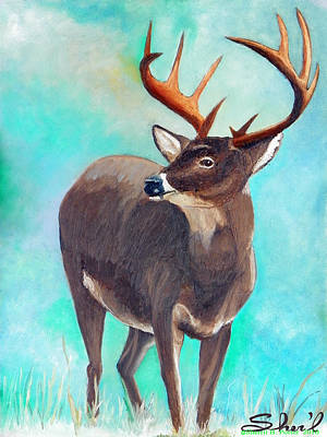 Poster featuring the painting the Buck Stops Here by Sherril Porter