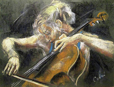The Cellist Poster by Debora Cardaci