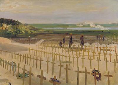 The Cemetery, Etaples Poster by John Lavery