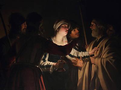 The Denial Of Saint Peter Poster by Gerard van Honthorst