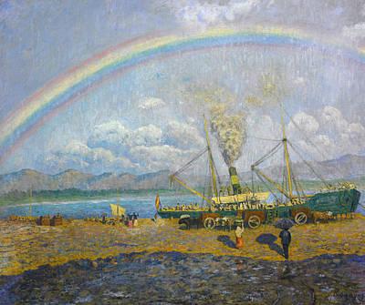 The Downpour. Santona Bay Poster by Dario de Regoyos