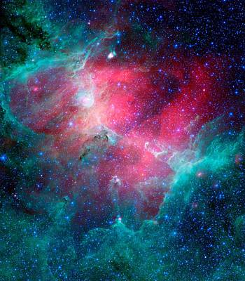 The Eagle Nebula In The Serpens Constellation Poster by American School
