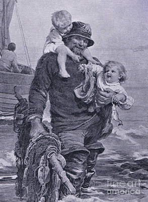The Ferry Poster by Frederick Morgan