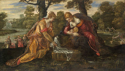 The Finding Of Moses Poster by Tintoretto