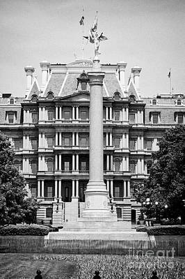the first division monument in front of the old executive office building Washington DC USA Poster