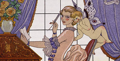 The First Letter Poster by Georges Barbier