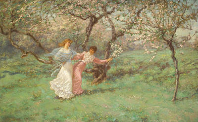 The Flowers Of May Poster by William John Hennessy