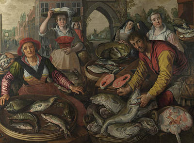The Four Elements - Water Poster by Joachim Beuckelaer