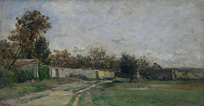 The Garden Wall Poster by Charles-Francois Daubigny