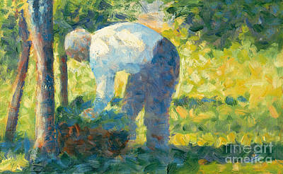 The Gardener Poster by Georges Pierre Seurat