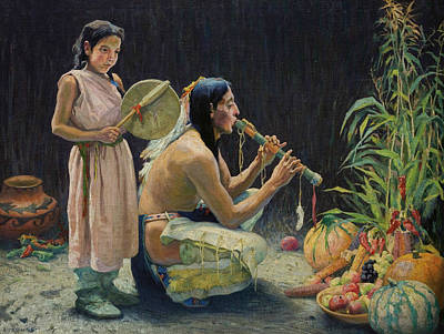 The Harvest Song Poster by Eanger Irving Couse