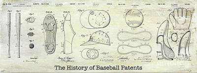 The History Of Baseball Patents Poster by Jon Neidert