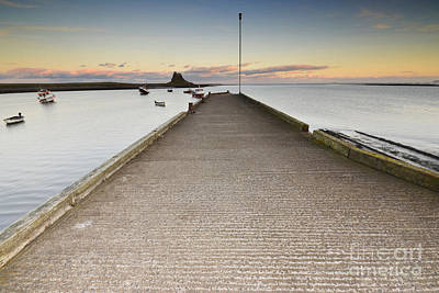 The Holy Island Of Lindisfarne Poster by Nichola Denny