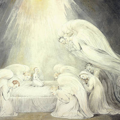 The Infant Jesus Saying His Prayers Poster by William Blake
