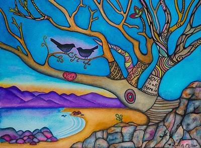 The Kiss And Love Is All There Is Poster by Lori Miller