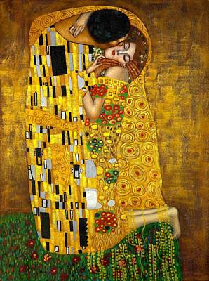The Kiss Poster by Klimt