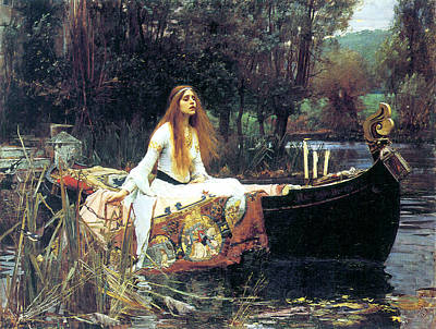 The Lady Of Shallot Poster by John William Waterhouse