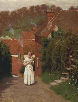 The Love Letter Poster by Edmund Blair Leighton