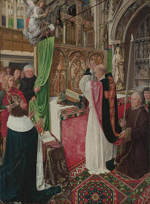 The Mass Of Saint Giles Poster by Master of Saint Giles