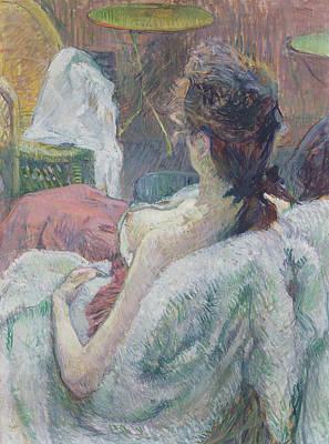 The Model Resting Poster by Henri de Toulouse-Lautrec