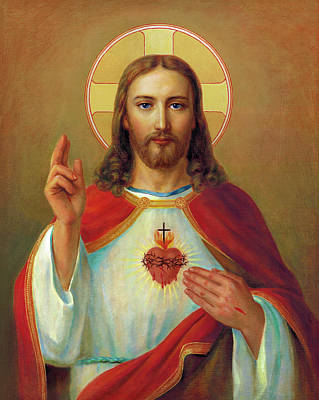 The Most Sacred Heart Of Jesus  Poster