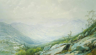 The Mount Washington Range From Mount Kearsarge Poster by William Trost Richards
