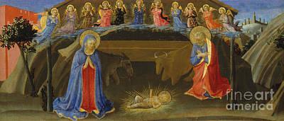 The Nativity Poster by Zanobi Strozzi