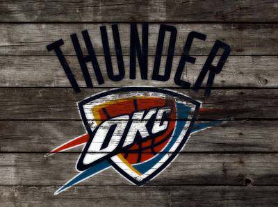 The Oklahoma City Thunder  Poster by Brian Reaves