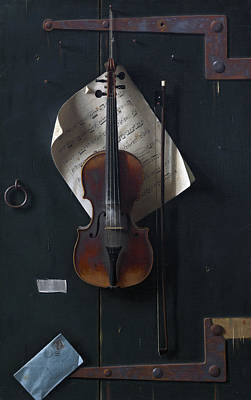 The Old Violin Poster by William Michael Harnett