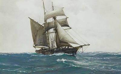 The Lonely Sea Poster by Montague Dawson